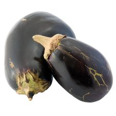 Pair Of Eggplant With Clipping Path Royalty Free Stock Image