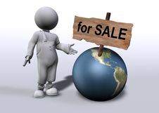 Free World For Sale Royalty Free Stock Photography - 9705057