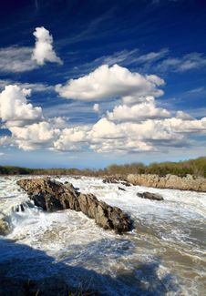 Free Potomac River Great Falls National Park Stock Photo - 9705140