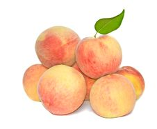 Pile Of Peaches Stock Photography