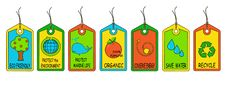 Free Eco Tags Royalty Free Stock Photography - 9705667