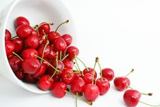 Free The Ripe Sweet Cherries. Stock Images - 9705764