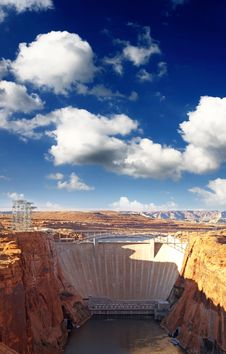 The Glen Canyon Dam Stock Photo