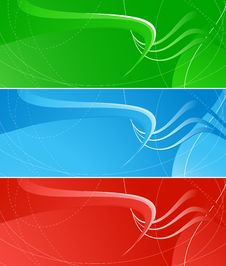 Free Bright Banners Royalty Free Stock Image - 9706466