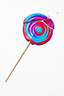 Broken Giant Lollipop Royalty Free Stock Photos