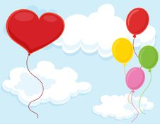 Free Balloons Royalty Free Stock Image - 9707316