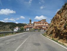 The Look To The Settlement Linares De Mora(1) Royalty Free Stock Photos