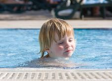 Free Little Girl In The  Pool Stock Photos - 9708063