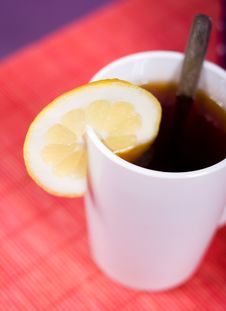 Free Cup With Black Tea Royalty Free Stock Image - 9708076
