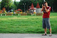 Free Photographer At Work Royalty Free Stock Image - 9708126