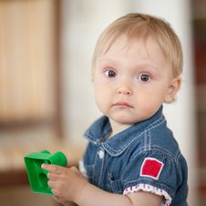 Free Baby With A Toy Stock Photos - 9708193