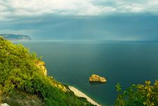 Mountains And Black Sea Royalty Free Stock Photography