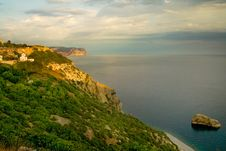 Free Mountains And Black Sea Stock Image - 9708511