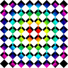 Free Rainbow Mosaic Squares Royalty Free Stock Photo - 9708875
