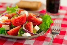 Free Greek Salad Stock Photography - 9709302