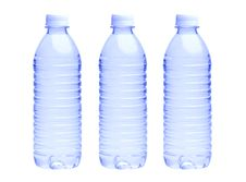 Free Water Bottle On White Stock Photos - 9709303