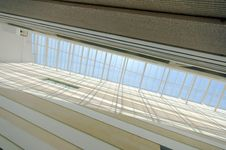 Wall And Glass Roof Royalty Free Stock Photos