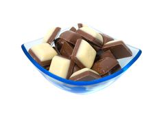 Free Chocolate Sweets Against Royalty Free Stock Image - 9709426