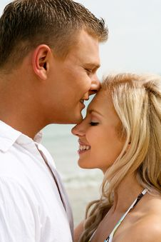 Summer Love At The Beach Royalty Free Stock Photography