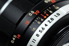 Free Aperture Ring Close-up Royalty Free Stock Photo - 9709865