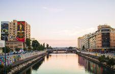 Free Sunset Urban River Royalty Free Stock Image - 97009446