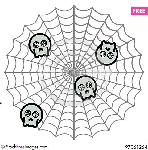 Free Spider`s Preys Stock Images - 97061264