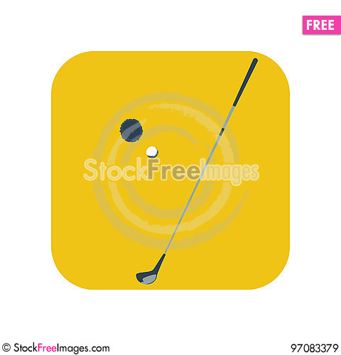 Free Golf Stick Icon Royalty Free Stock Images - 97083379
