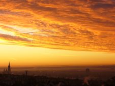 Free Sky, Afterglow, Red Sky At Morning, Horizon Stock Photography - 97094232
