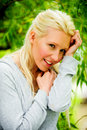 Free Beautiful Blond Female Relaxing In The Park Stock Photo - 9715430