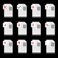 Free Document Business Icons Royalty Free Stock Images - 9717729