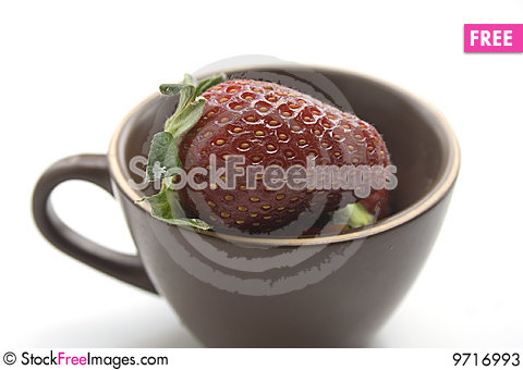 Free A Cup Of Strawberries Stock Photos - 9716993