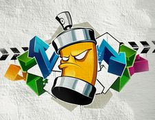 Free Cool Graffiti Royalty Free Stock Photography - 9710127