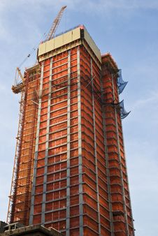Free Construction Of Skyscraper Stock Photos - 9710783