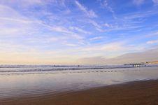 Free A Beach Under Blue Sky Stock Photography - 9711322