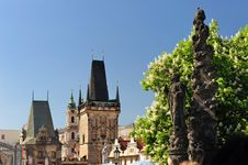 Free Charles Bridge Bridge Tower In Lesser Quarter Stock Photography - 9711832