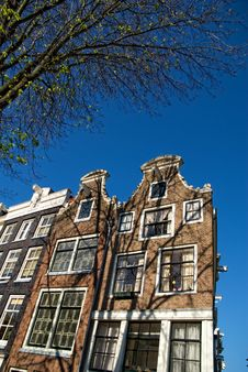 Amsterdam Typical Houses Stock Photos