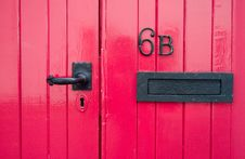 Free Red Door Royalty Free Stock Photo - 9712115