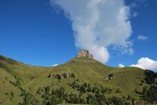Free Dolomiti Mountains In Italy. Panorama Royalty Free Stock Photo - 9712595