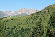 Free Dolomiti Mountains In Italy. Panorama Stock Images - 9712604