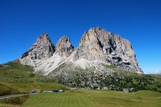 Free Dolomiti Mountains In Italy. Panorama Stock Images - 9712634