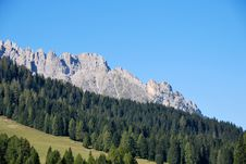Free Dolomiti Mountains In Italy. Panorama Royalty Free Stock Photos - 9712638
