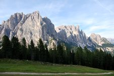 Free Dolomiti Mountains In Italy. Panorama Royalty Free Stock Photography - 9712647