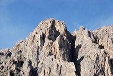 Free Dolomiti Mountains In Italy. Peak Royalty Free Stock Photos - 9712648
