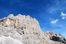Free Dolomiti Mountains In Italy. Peak Stock Photography - 9712662