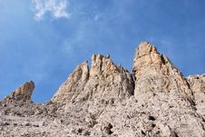 Free Dolomiti Mountains In Italy. Peak Royalty Free Stock Photo - 9712665