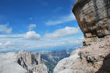 Free Dolomiti Mountains In Italy. Panorama Stock Image - 9712721