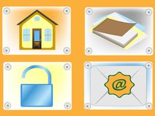 Free Four Icons For The Internet Stock Image - 9713121
