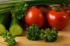 Vegetables Vor Salad Royalty Free Stock Photography