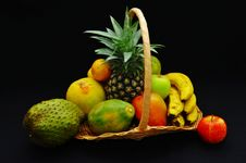 Free Fruit Basket Royalty Free Stock Image - 9713726