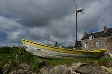 Free Ship In Brittany Stock Image - 9713751